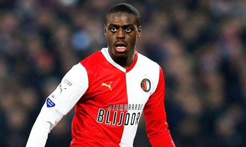 ROTTERDAM, NETHERLANDS - APRIL 05:  Bruno Martins Indi of Feyenoord in action during the Eredivisie match between Feyenoord and VVV Venlo at De Kuip on April 5, 2013 in Rotterdam, Netherlands.  (Photo by Dean Mouhtaropoulos/Getty Images)